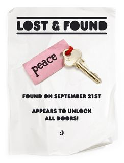 lost and found - peace!